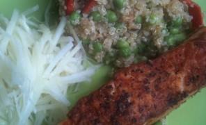 Beatos kynva su lašiša ir kaliaropių salotomis