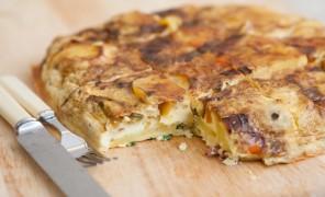"""Beatos daržovių pyragas kaip ispaniška """"Tortilla"""""""