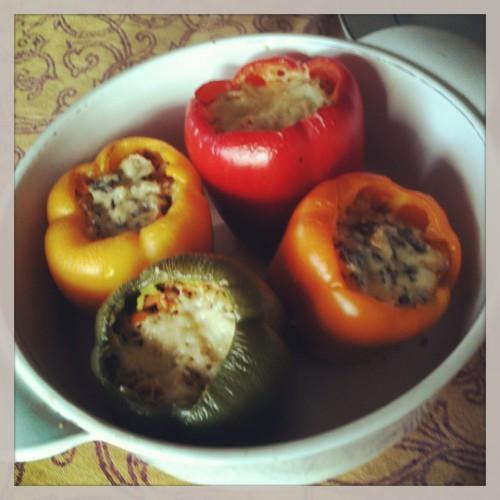 Kruopomis ir daržovėmis kimštos paprikos_Beatos virtuvė