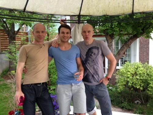 Ignas (tėtis), Vaidas (sūnus) ir geriausias Panelių fotografas Algis