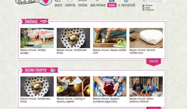 Beatos virtuvė - pirmoji Lietuvoje video receptų svetainė, video blogas