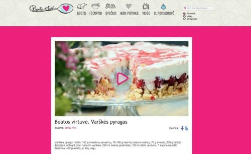 video receptas, Beatos virtuvė - pirmoji Lietuvoje video receptų svetainė, video blogas