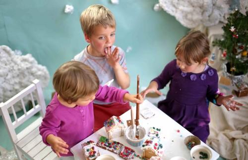 Vaikai imbierinis namelis