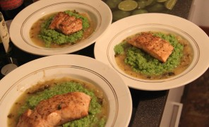 salmon lemom brodetto